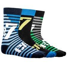 cr7 underwear sokker 3-pak - grøn/sort/blå børn - sokker