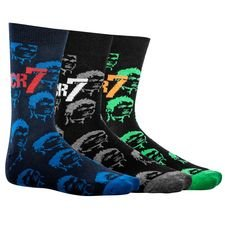 cr7 underwear sokker 3-pak - sort/blå/grå børn - sokker