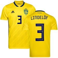 sweden home shirt world cup 2018 lindelöf 3 kids - football shirts