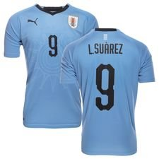 uruguay home shirt world cup 2018 l. suarez 9 kids - football shirts