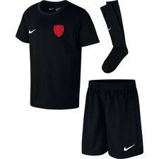 ishøj if - mini-kit sort børn - fodboldtrøjer