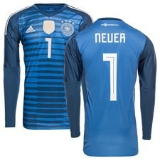 germany goalkeeper shirt home world cup 2018 neuer 1 kids - football shirts