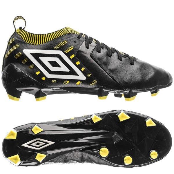 umbro medusae ii elite hg - sort/hvid/gul - fodboldstøvler