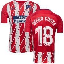 atletico madrid hjemmebanetrøje 2017/18 diego costa 18 børn - fodboldtrøjer
