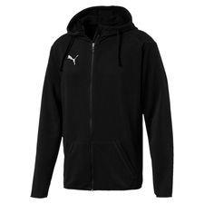 puma hoodie liga casual fz - puma black/white - hoodies