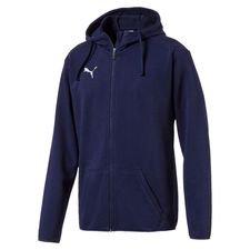 puma hoodie liga casual fz - peacoat/white kids - hoodies