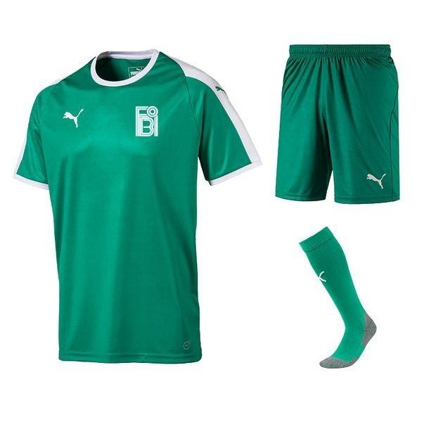fredensborg bi - hjemmebanesæt grøn børn - fodboldtrøjer
