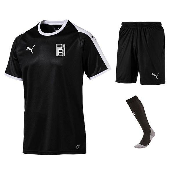 fredensborg bi - udebanesæt sort børn - fodboldtrøjer