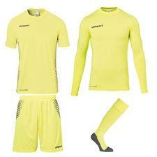 uhlsport keeperstenue score - fluo yellow/zwart - keeperuitrusting