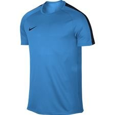 nike trænings t-shirt dry academy - blå/navy - træningstrøjer