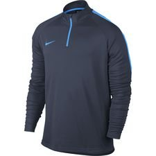 nike training shirt midlayer drill top academy - obsidian/blue hero - training tops
