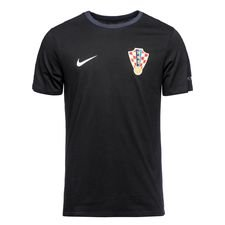 kroatien t-shirt crest - sort/navy - t-shirts
