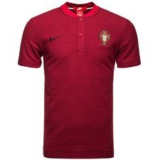 portugal polo authentic grand slam - gym red/black - polo shirts