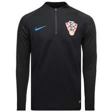 croatia training shirt dry squad drill - black/gym blue - training tops