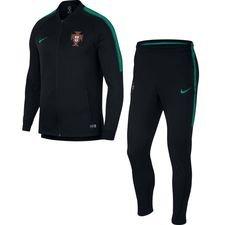 portugal træningsdragt dry squad - sort/grøn - træningsdragt