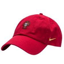 portugal kasket h86 - rød/rød/guld - huer