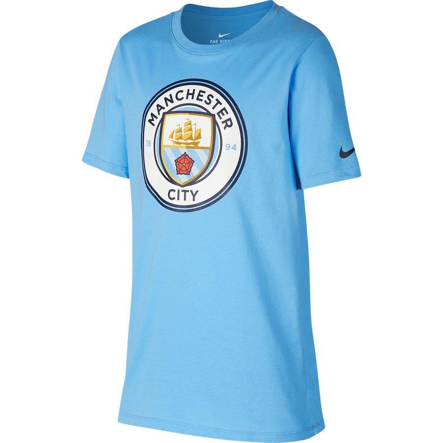 Manchester City T-Shirt Crest - Blå Børn