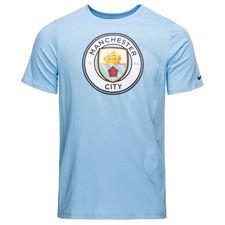 manchester city t-shirt crest - blå børn - t-shirts