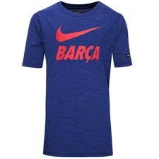 Barcelona T-Shirt Preseason Dry - Navy/Röd Barn