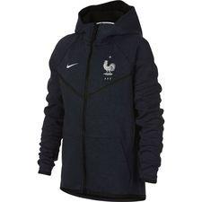 france hoodie fz nsw tech fleece windrunner - obsidian/heather/white kids - hoodies