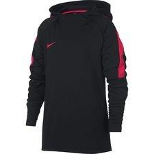 nike hættetrøje dry academy - sort/rød børn - hættetrøjer