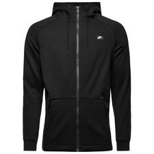 nike hoodie nsw modern fz ft - black - hoodies