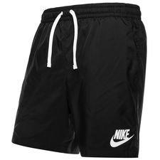 nike shorts nsw woven flow - sort/hvid - træningsshorts