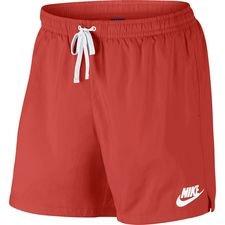 nike shorts nsw woven flow - rød/hvid - træningsshorts