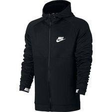 nike hoodie nsw advance 15 fz - black/white - hoodies