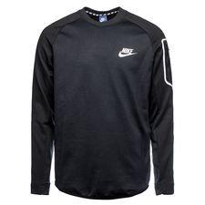 nike sweatshirt nsw advance 15 fleece - black/white - sweatshirts