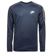 nike sweatshirt nsw advance 15 fleece - blå/hvid - sweatshirts