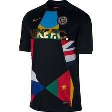 nike f.c. trænings t-shirt - sort/blå - fodboldtrøjer