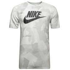 nike t-shirt nsw plus print - grå/grøn - t-shirts