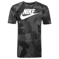 nike t-shirt nsw plus print - black/white - t-shirts