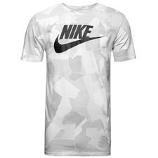 nike t-shirt nsw plus print - white/black - t-shirts