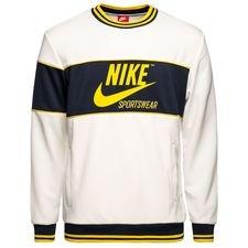 nike sweatshirt nsw archive - hvid/navy - sweatshirts