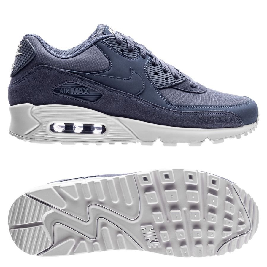 nike air max 90 essential - blå vit - sneakers ... 499c8876d7513