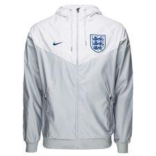 england windrunner woven authentic - grå/hvid/blå - jakker