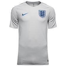 england trænings t-shirt breathe squad - grå/blå - træningstrøjer