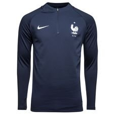 france training shirt dry squad drill - obsidian/white - training tops
