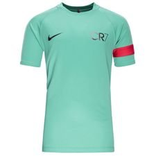 nike training t-shirt dry academy cr7 chapter 6:born leader - kinetic green/deep pewter kids - t-shirts