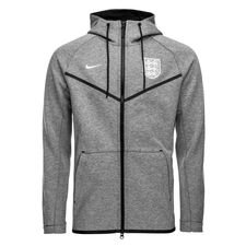 england hættetrøje nsw tech fleece windrunner - grå/sort/hvid - hættetrøjer