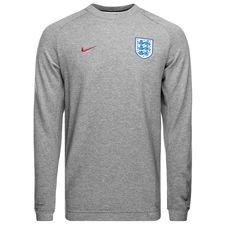 england sweatshirt nsw crew ft authentic - carbon heather/dark grey/gym red - sweatshirts