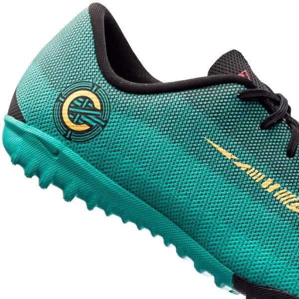 Nike Mercurial Vaporx 12 Academy Tf Chapitre 6 Cr7: Leader Né - Turquoise / Enfants Jaune / Noir XkS5U