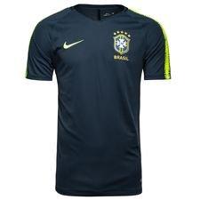 brazil training t-shirt breathe squad - armory navy/volt - training tops