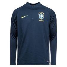 brasilien træningstrøje dry squad drill - blå/neon - træningstrøjer