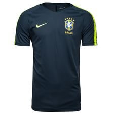 brazil training t-shirt breathe squad - armory navy/volt kids - training tops
