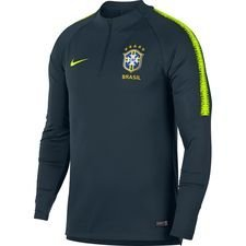 brazil training shirt dry squad drill - armory navy/volt kids - training tops