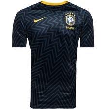 brasilien trænings t-shirt dry squad gx 2.0 - blå/gul - træningstrøjer