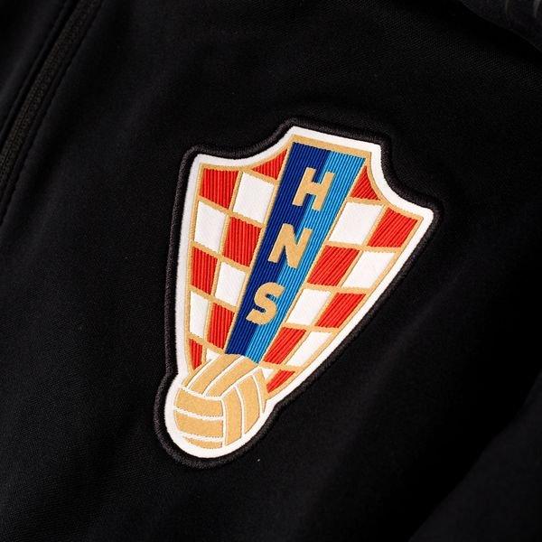 quality design 5aab8 a4fe9 Kroatien Trainingsjacke Anthem - Schwarz/Grau | www ...